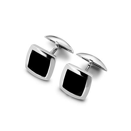 Sterling Silver & Onyx Square Cufflinks