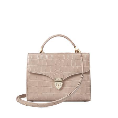The Mayfair Bag – DEEP SHINE SOFT TAUPE CROC