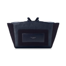 Marylebone Oversized Day Clutch in Navy Pebble. Evening & Clutches from Aspinal of London