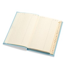 Slim Pocket Address Book in Smooth Aqua. Sale from Aspinal of London