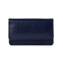 Business & Credit Card Case in Navy Lizard. Business & Credit Card Holders from Aspinal of London