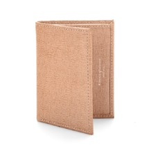 Double Fold Credit Card Case with Notes Pocket in Deer Saffiano. Business & Credit Card Holders from Aspinal of London