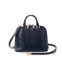 Mini Hepburn in Navy Lizard. Handbags & Clutches from Aspinal of London