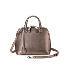 Mini Hepburn in Pewter Lizard. Sale from Aspinal of London
