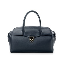 Berkeley Bag in Navy Pebble & Smooth Navy. Handbags & Clutches from Aspinal of London