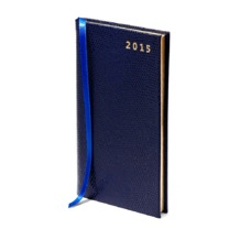 Slim Pocket Week to View Leather Diary in Navy Lizard. Slim Pocket Leather Diary from Aspinal of London