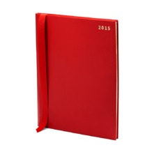 Quarto (A4) Week to View Italian Leather Diary in Smooth Berry. Sale from Aspinal of London