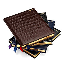 A4 Day per Page Leather Diary. Leather Diaries from Aspinal of London