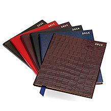A4 Week to View Leather Diary. Leather Diaries from Aspinal of London