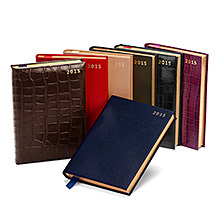 A5 Day per Page Leather Diary. Leather Diaries from Aspinal of London