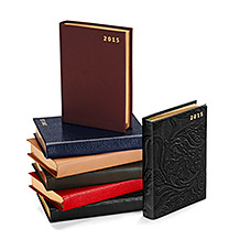 A6 Day per Page Leather Diary. Leather Diaries from Aspinal of London