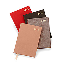 Mini Pocket Leather Diary. Leather Pocket Diaries from Aspinal of London