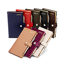 Slim Pocket Leather Diary & Pen. Leather Pocket Diaries from Aspinal of London