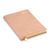Mini Pocket Week to View Leather Diary in Smooth Deer. Sale from Aspinal of London