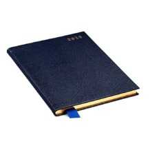 A5 Week to View Leather Diary in Navy Lizard. A5 Week to View Leather Diary from Aspinal of London