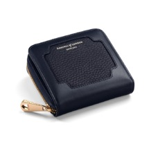 Marylebone Mini Purse in Navy Pebble. Outlet from Aspinal of London