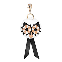 Owl Pom Pom Key Ring. Key Rings & Charms from Aspinal of London