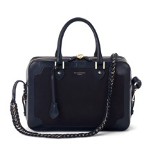 Sofia Bag in Smooth Navy & Navy Nubuck. Handbags & Clutches from Aspinal of London