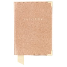 Plain Passport Cover in Deer Saffiano. Leather Passport Covers from Aspinal of London