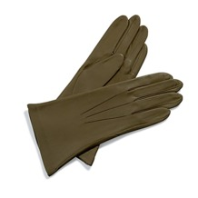 Ladies Cashmere Lined Leather Gloves in Moss Green. Ladies Cashmere Lined Leather Gloves from Aspinal of London