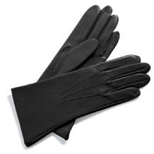 Ladies Cashmere Lined Leather Gloves in Dark Grey. Ladies Cashmere Lined Leather Gloves from Aspinal of London