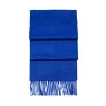 Pure Cashmere Scarf in Cobalt Blue. Mens Cashmere & Wool Scarves from Aspinal of London