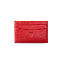 Slim Credit Card Case in Berry Lizard. Business & Credit Card Holders from Aspinal of London