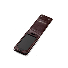 Leather iPhone 5 Flip Cover. Luxury Travel Accessories from Aspinal of London