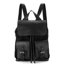 Shadow Rucksack in Black Nubuck. Mens Messenger Bags from Aspinal of London