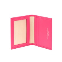 ID & Travel Card Case in Smooth Neon Pink. Business & Credit Card Holders from Aspinal of London