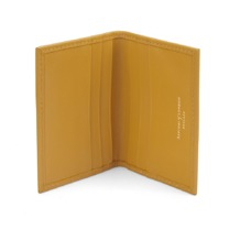Double Fold Credit Card Case in Smooth Mustard. Business & Credit Card Holders from Aspinal of London
