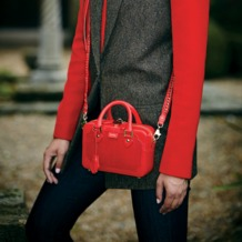 Mini Sofia Bag in Berry Lizard. Handbags & Clutches from Aspinal of London