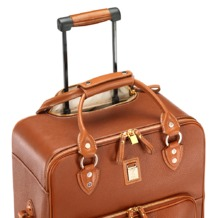 Large Cabin Case in Tan Pebble. Mens Travel Bags from Aspinal of London