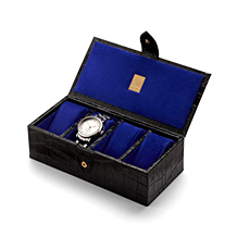 Four Watch Box. Leather Cufflink & Watch Boxes from Aspinal of London