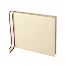 Deluxe Wedding Guest Book in Ivory. Guest & Visitors Books from Aspinal of London