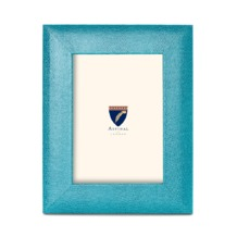 7 x 5 Leather Photo Frame in Turquoise Lizard. Leather Photo Frames from Aspinal of London