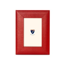 6 x 4 Leather Photo Frame in Red Lizard. Leather Photo Frames from Aspinal of London