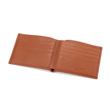 Shadow Billfold Wallet in Smooth Tan. Leather Billfold Wallets from Aspinal of London