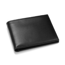 Leather Jeans Wallet in Smooth Black & Smooth Red. Leather Billfold Wallets from Aspinal of London