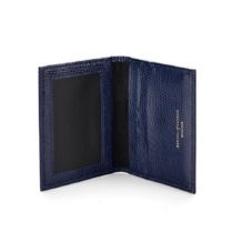 ID & Travel Card Case in Navy Lizard. Business & Credit Card Holders from Aspinal of London