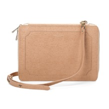 Marylebone iPad Air Case with Crossbody Strap in Deer Saffiano. Outlet from Aspinal of London