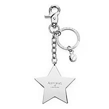 Metal Star & Heart Handbag Charm Keyrings