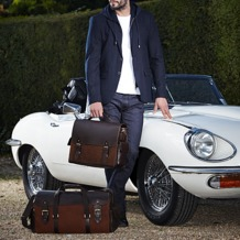 Shadow Holdall in Brown Nubuck. Mens Travel Bags from Aspinal of London