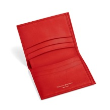 Double Fold Credit Card Case with Notes Pocket in Smooth Berry. Business & Credit Card Holders from Aspinal of London