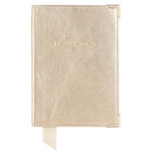 Plain Passport Cover in Metallic Gold Nappa. Leather Passport Covers from Aspinal of London