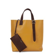 A' Tote in Smooth Mustard. Mens Messenger Bags from Aspinal of London