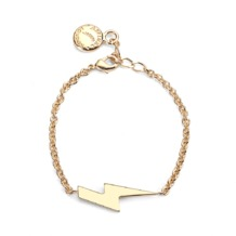 Lightning Bolt Charm Bracelet. Cuff Bracelets from Aspinal of London
