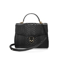 Mayfair Bag in Black Python. Handbags & Clutches from Aspinal of London