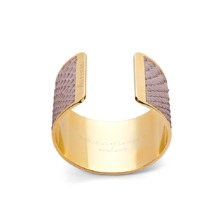 Cleopatra Cuff Bracelet in Nude Nubuck Python. Cuff Bracelets from Aspinal of London