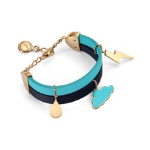 Stormy Weather Leather Charm Bracelet. Cuff Bracelets from Aspinal of London